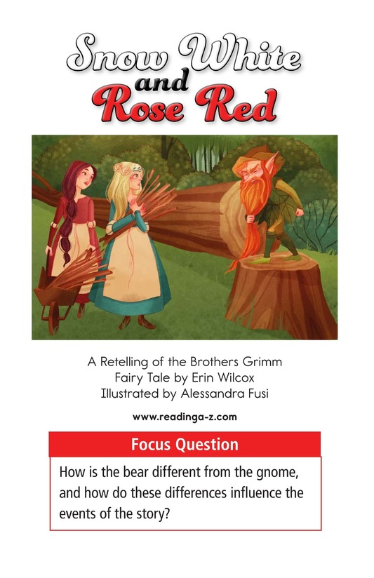 Book Preview For Snow White and Rose Red Page 1