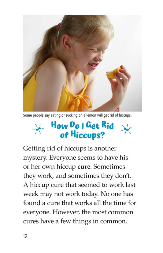 Book Preview For The Science of Hiccups Page 12