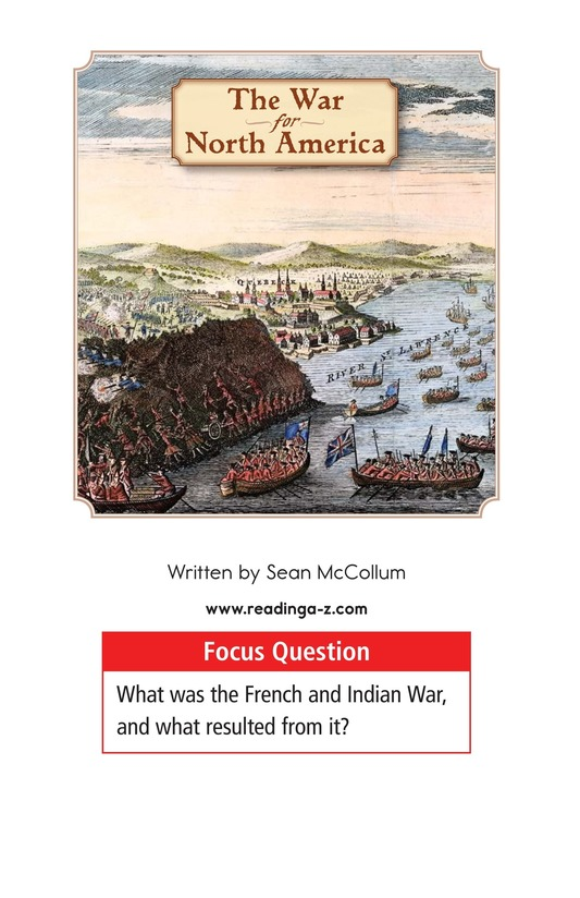 Book Preview For The War for North America Page 1