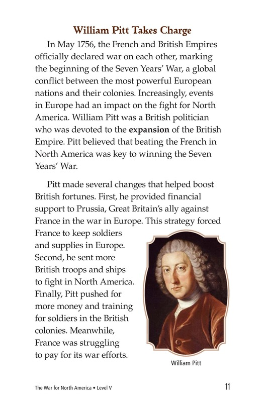 Book Preview For The War for North America Page 11