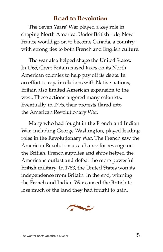 Book Preview For The War for North America Page 15