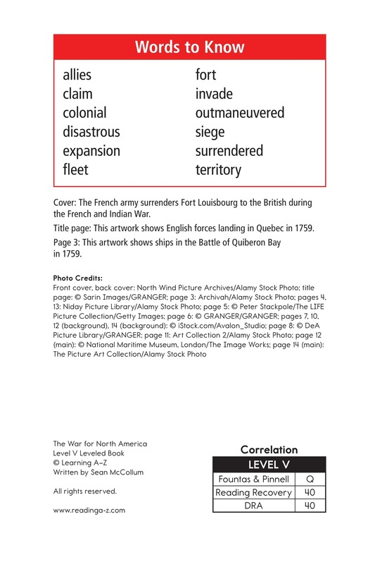 Book Preview For The War for North America Page 2