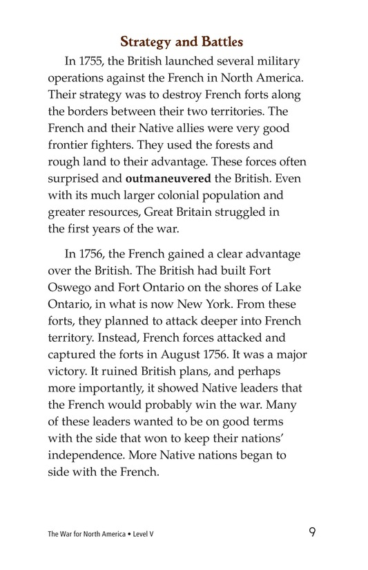Book Preview For The War for North America Page 9