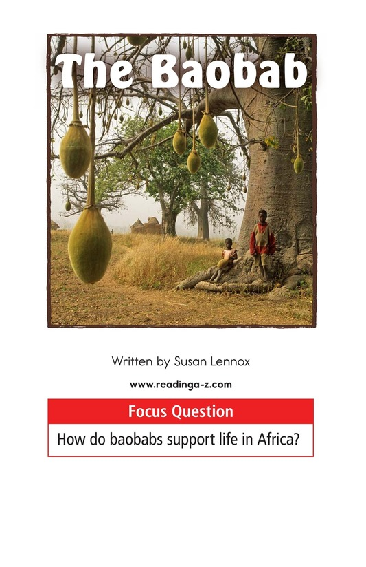 Book Preview For The Baobab Page 1