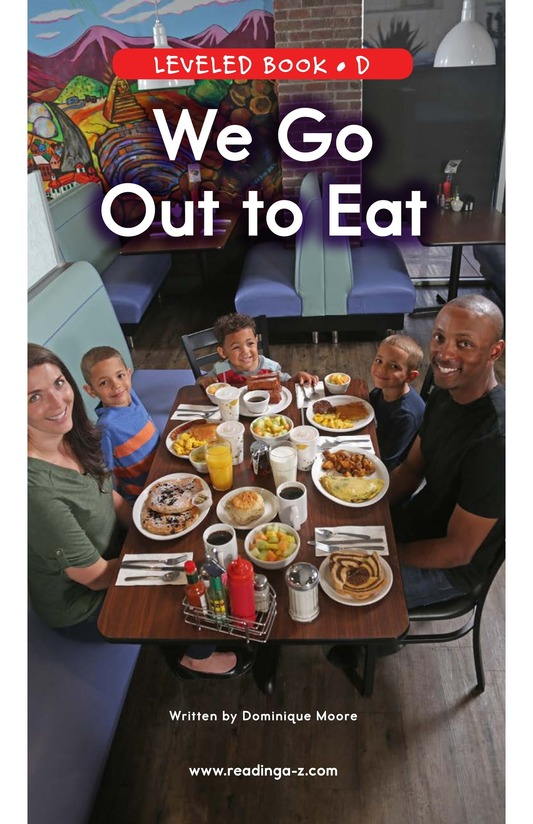 Book Preview For We Go Out to Eat Page 0