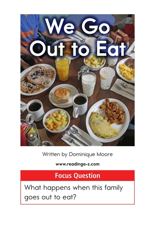 Book Preview For We Go Out to Eat Page 1
