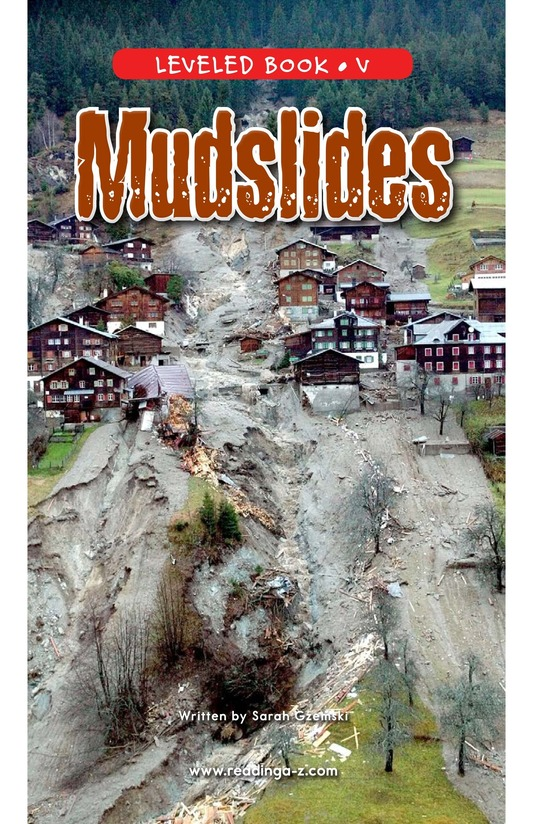 Book Preview For Mudslides Page 0
