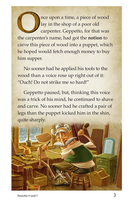 Book Preview For Pinocchio, Part 1 Page 3