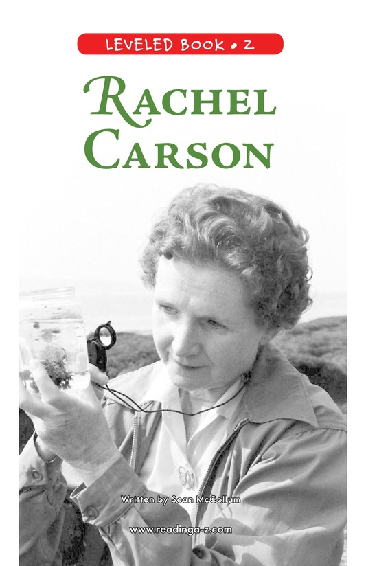 Book Preview For Rachel Carson Page 0
