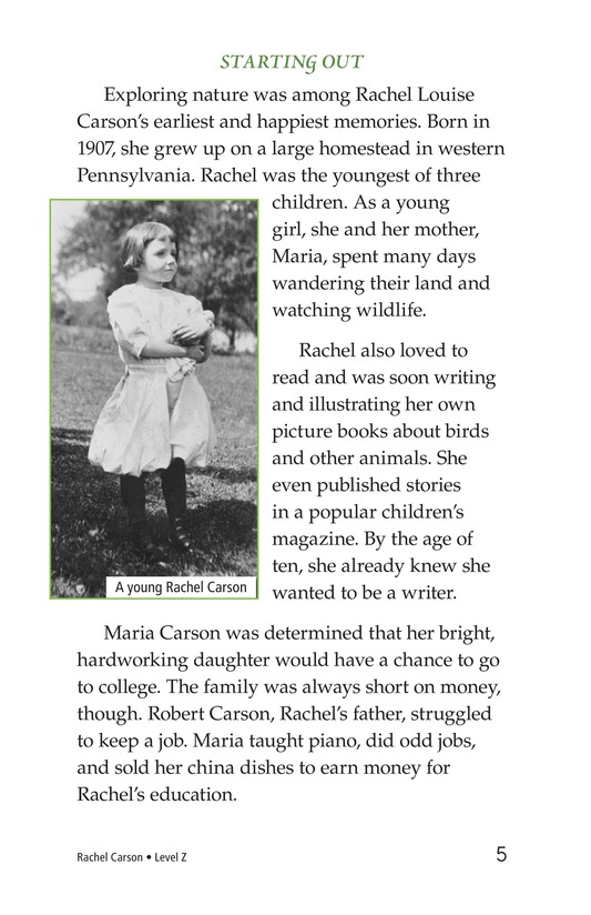 Book Preview For Rachel Carson Page 5