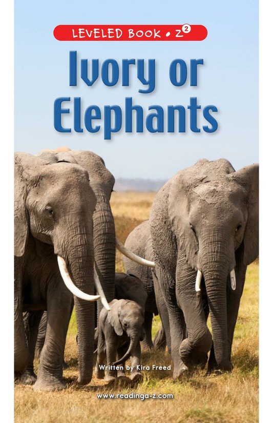 Book Preview For Ivory or Elephants Page 0