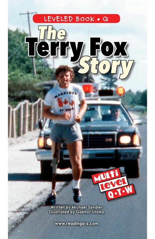 Book Preview For The Terry Fox Story Page 0