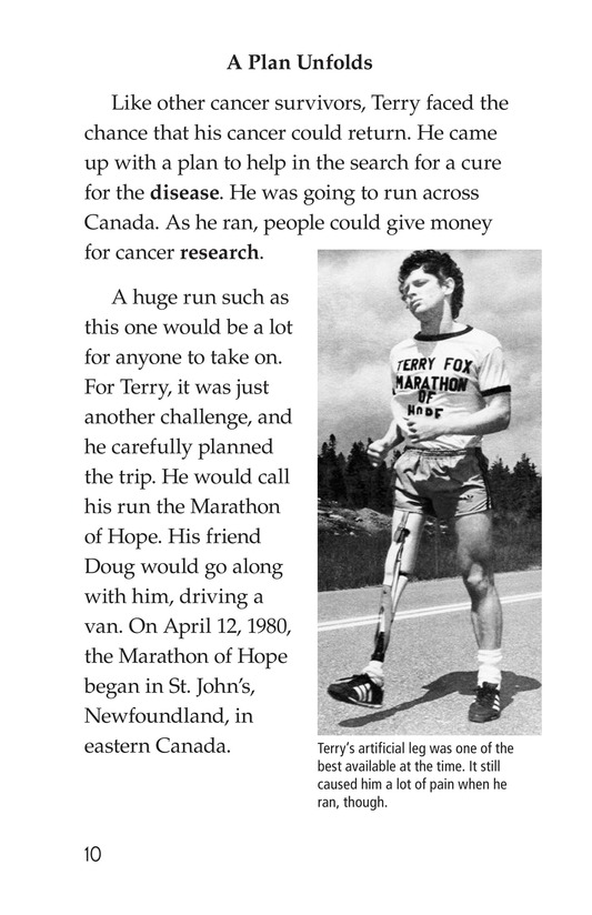 Book Preview For The Terry Fox Story Page 10