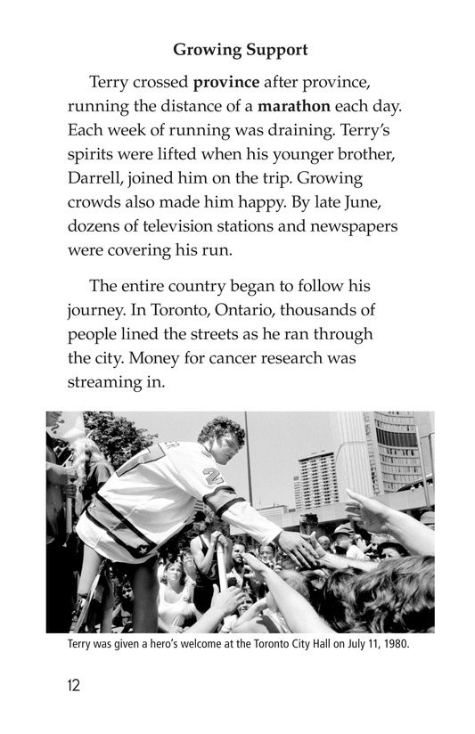 Book Preview For The Terry Fox Story Page 12