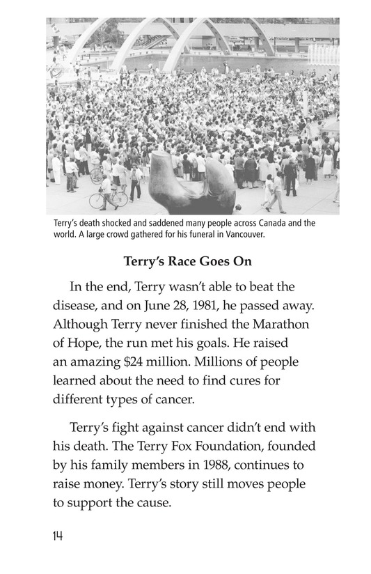 Book Preview For The Terry Fox Story Page 14