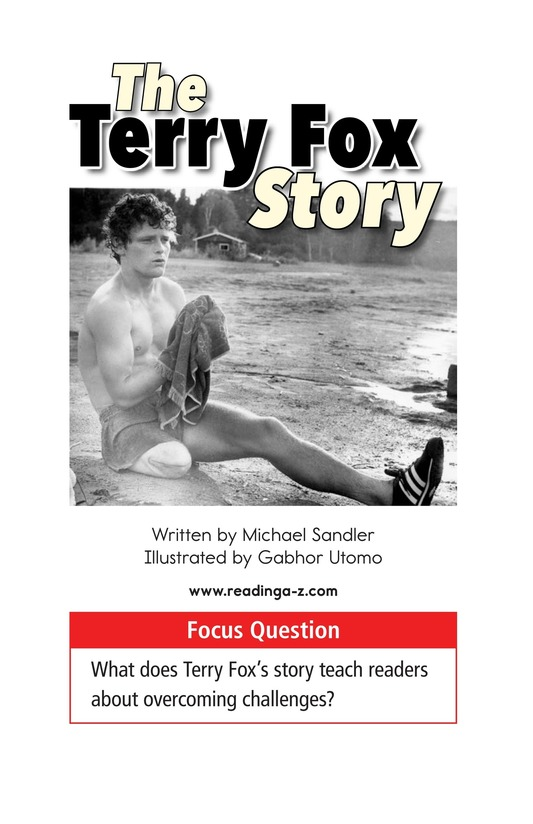 Book Preview For The Terry Fox Story Page 1