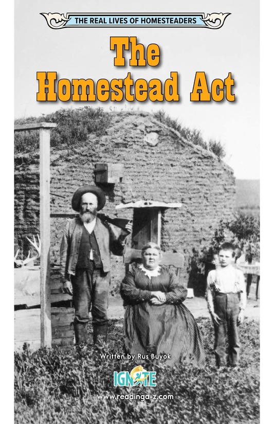 Book Preview For The Homestead Act Page 0