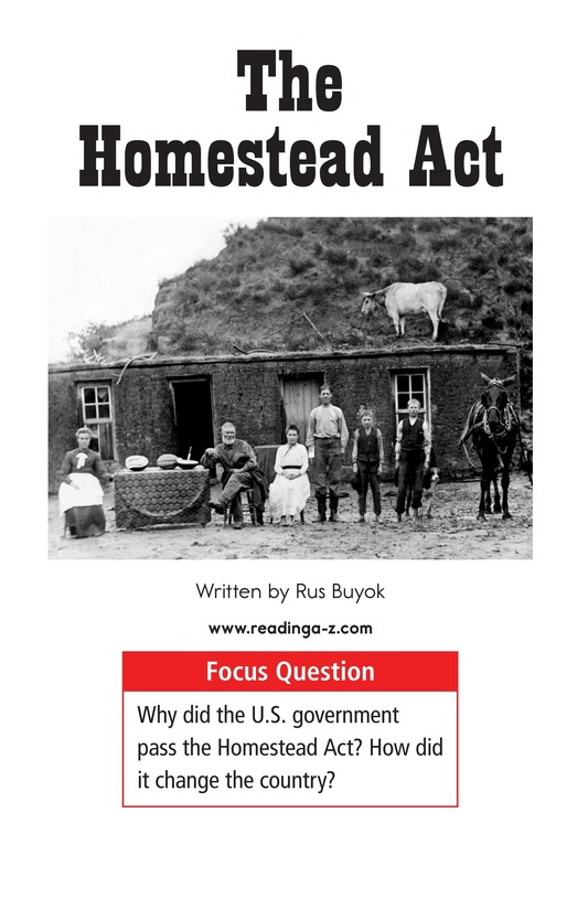 Book Preview For The Homestead Act Page 1