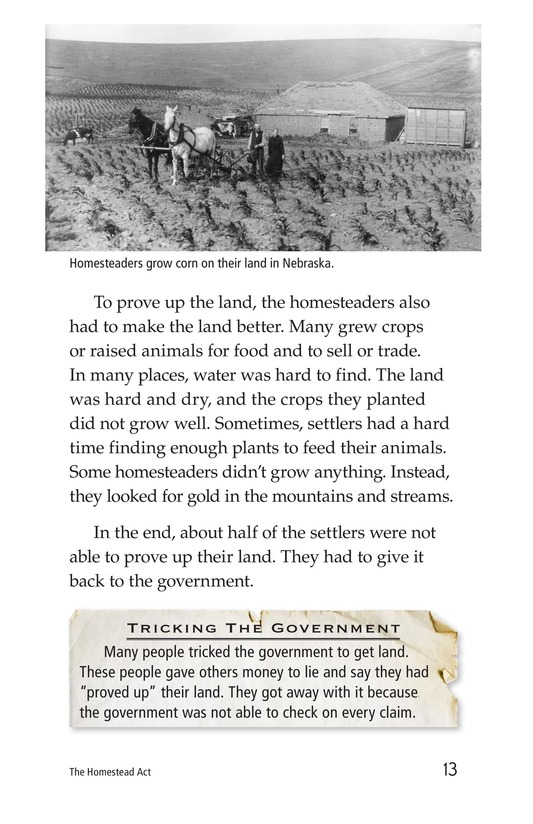 Book Preview For The Homestead Act Page 13