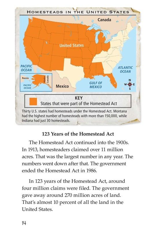 Book Preview For The Homestead Act Page 14