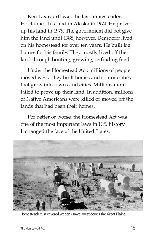 Book Preview For The Homestead Act Page 15