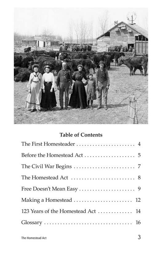 Book Preview For The Homestead Act Page 3