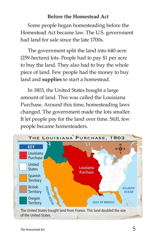Book Preview For The Homestead Act Page 5