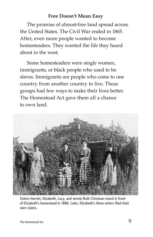 Book Preview For The Homestead Act Page 9