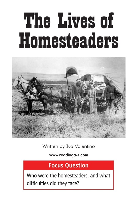Book Preview For The Lives of Homesteaders Page 1