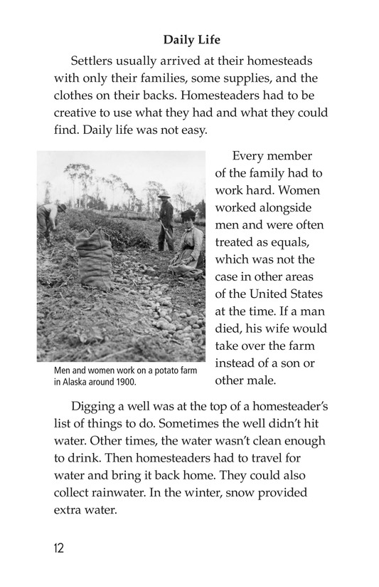 Book Preview For The Lives of Homesteaders Page 12