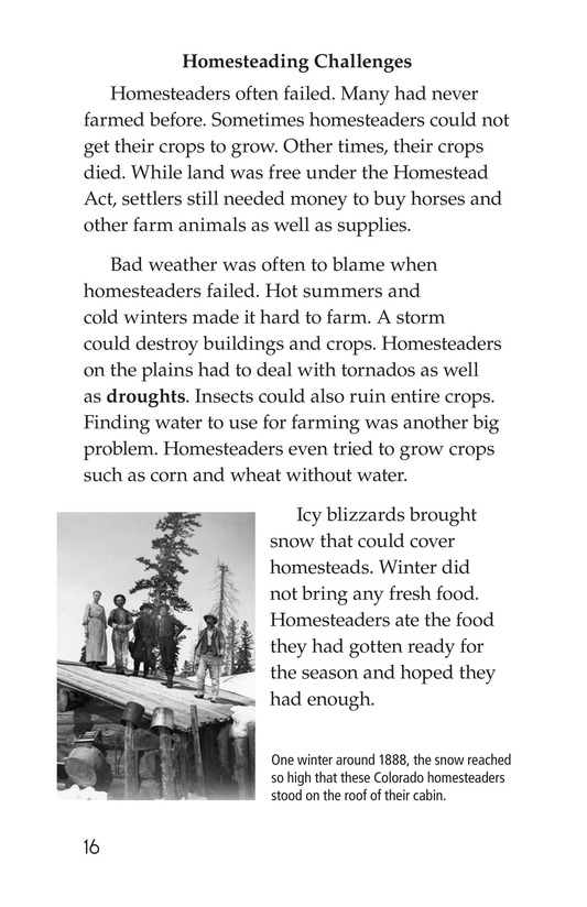 Book Preview For The Lives of Homesteaders Page 16
