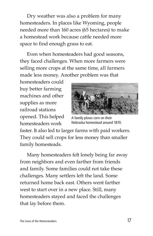 Book Preview For The Lives of Homesteaders Page 17