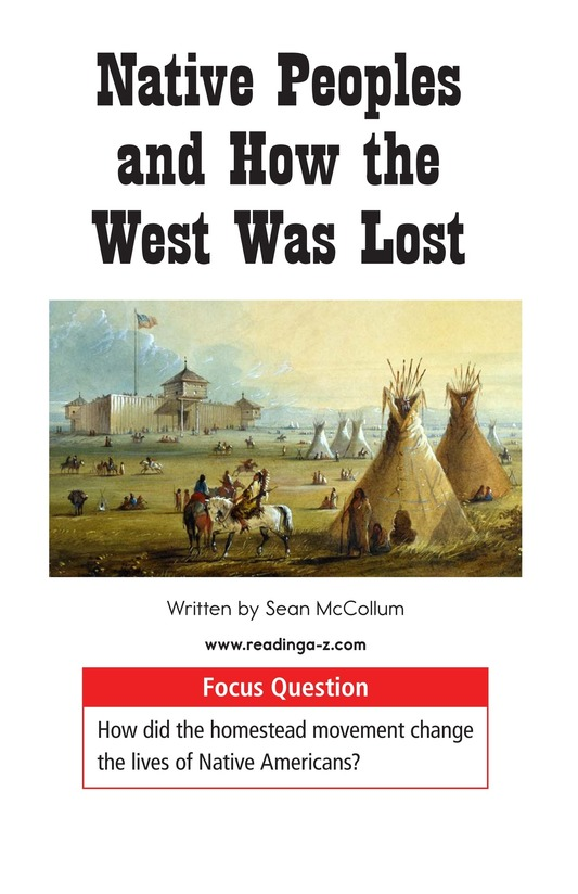 Book Preview For Native Peoples and How the West Was Lost Page 1