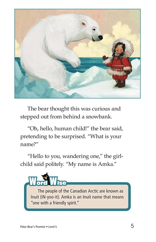 Book Preview For Polar Bear's Promise Page 5