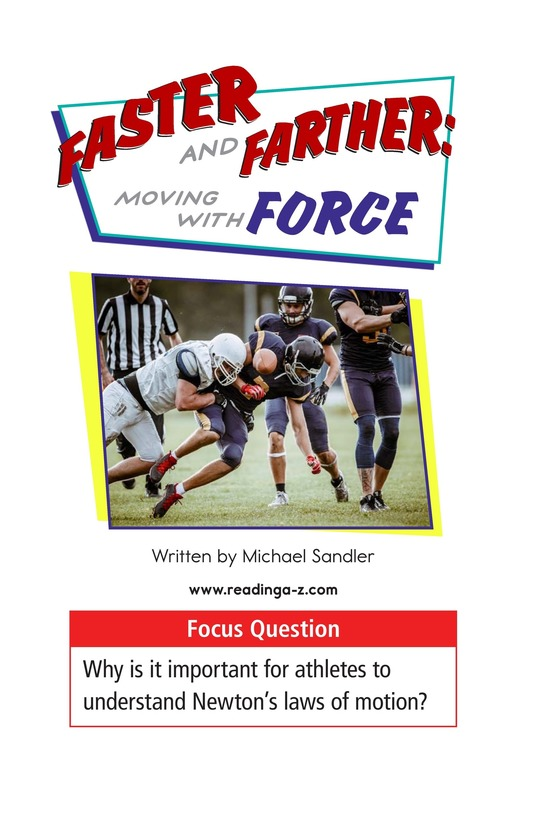 Book Preview For Faster and Farther: Moving with Force Page 1