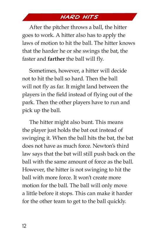 Book Preview For Faster and Farther: Moving with Force Page 12