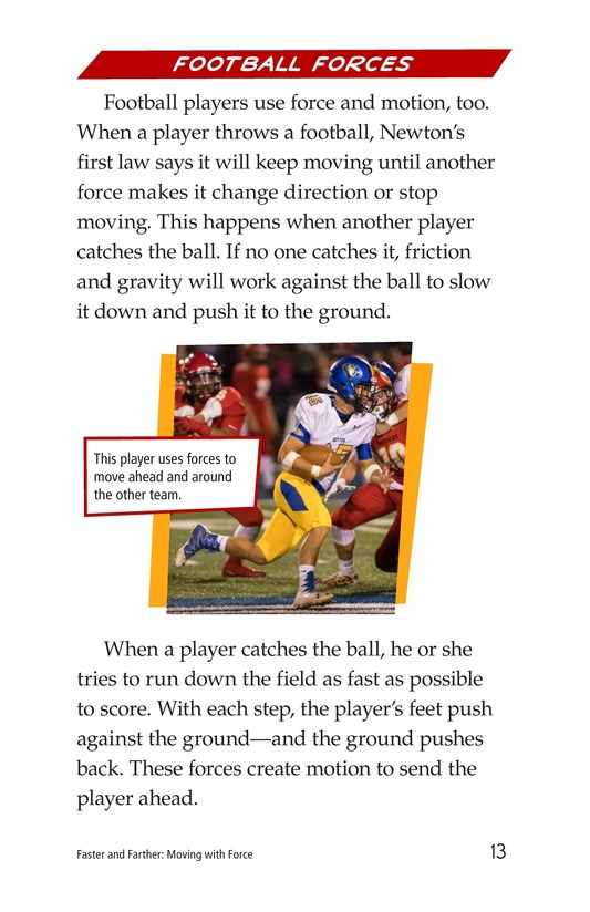 Book Preview For Faster and Farther: Moving with Force Page 13