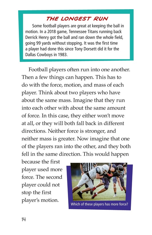 Book Preview For Faster and Farther: Moving with Force Page 14