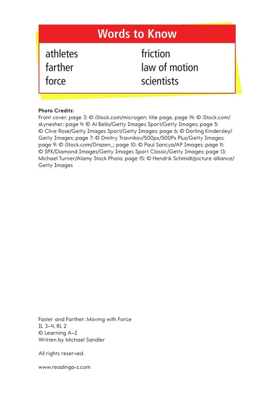 Book Preview For Faster and Farther: Moving with Force Page 2