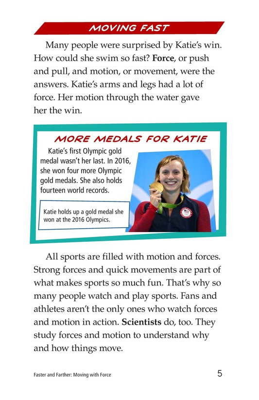 Book Preview For Faster and Farther: Moving with Force Page 5