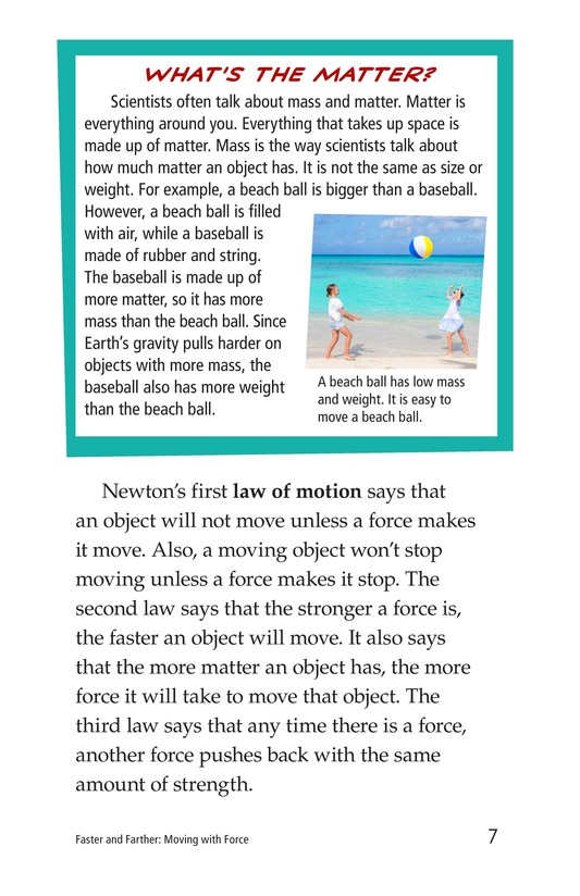Book Preview For Faster and Farther: Moving with Force Page 7