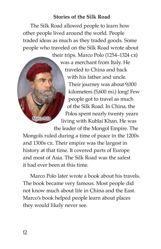 Book Preview For The Silk Road: East Meets West Page 12