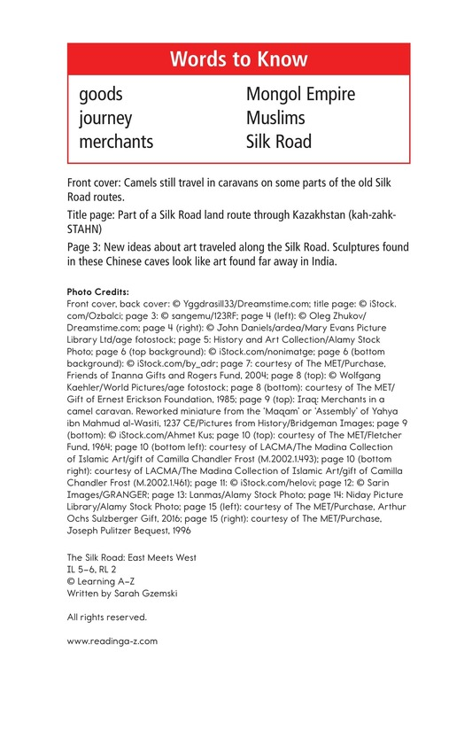 Book Preview For The Silk Road: East Meets West Page 2