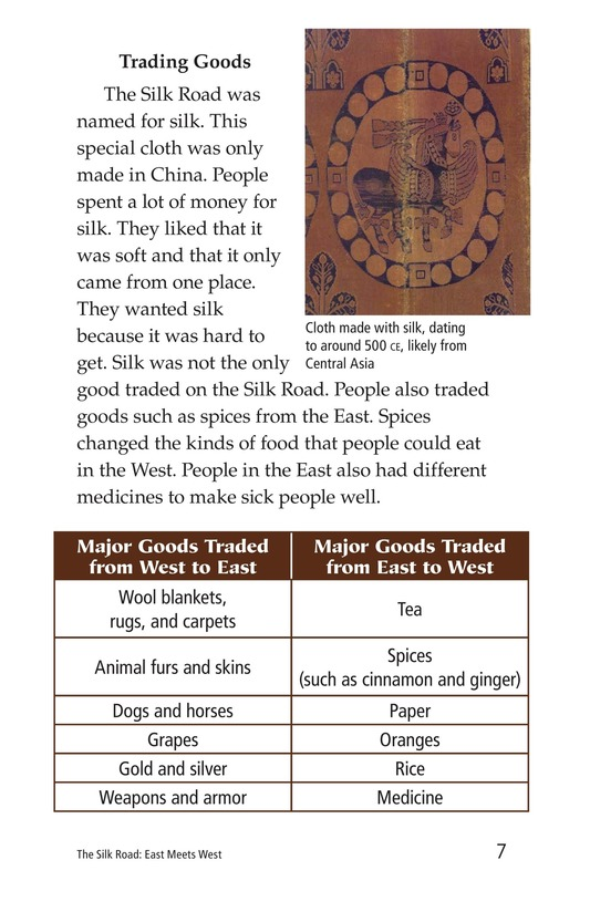 Book Preview For The Silk Road: East Meets West Page 7