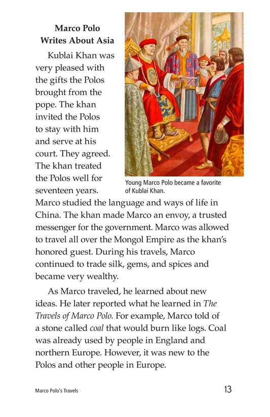 Book Preview For Marco Polo's Travels Page 13