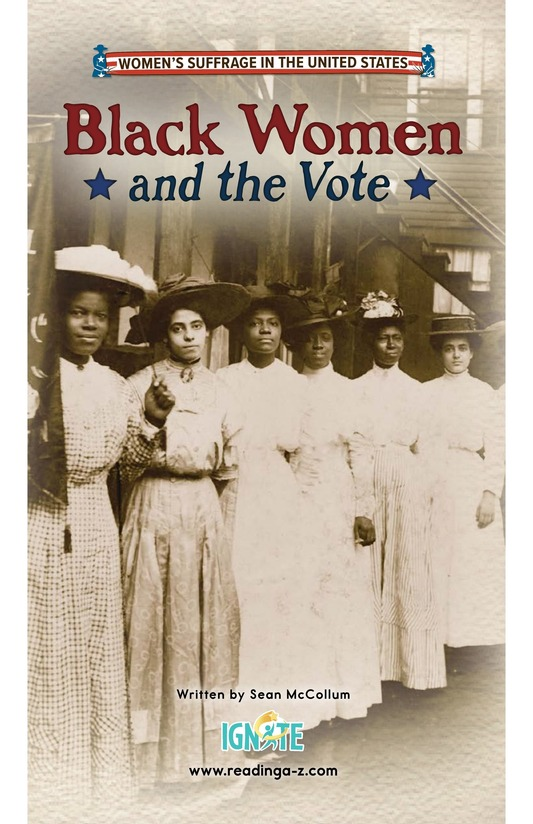 Book Preview For Black Women and the Vote Page 0