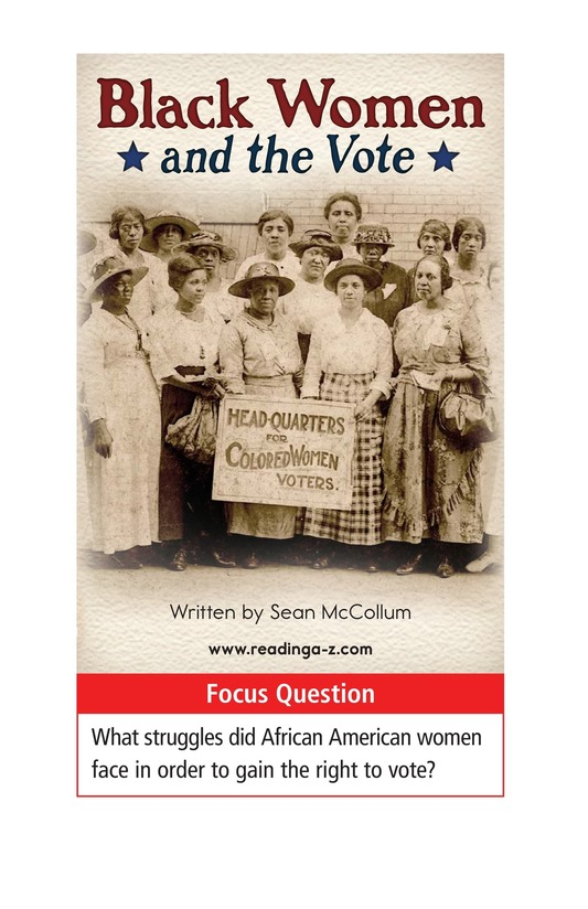 Book Preview For Black Women and the Vote Page 1