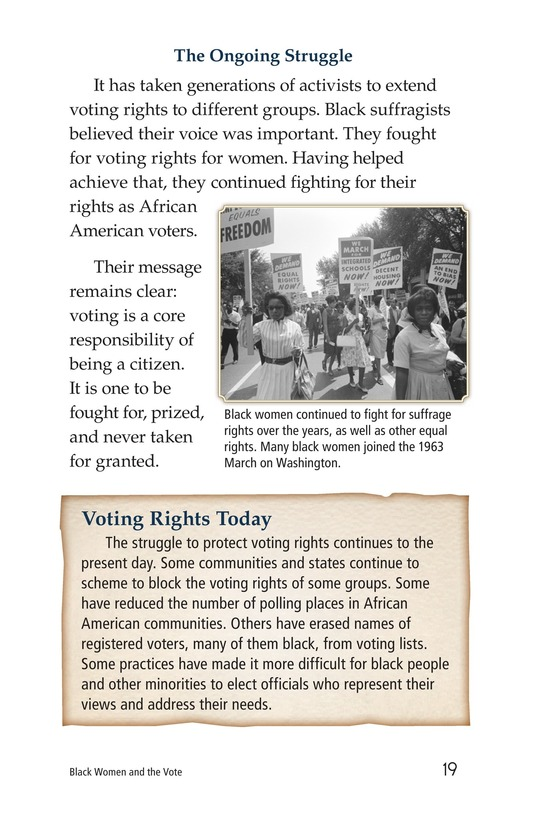 Book Preview For Black Women and the Vote Page 19