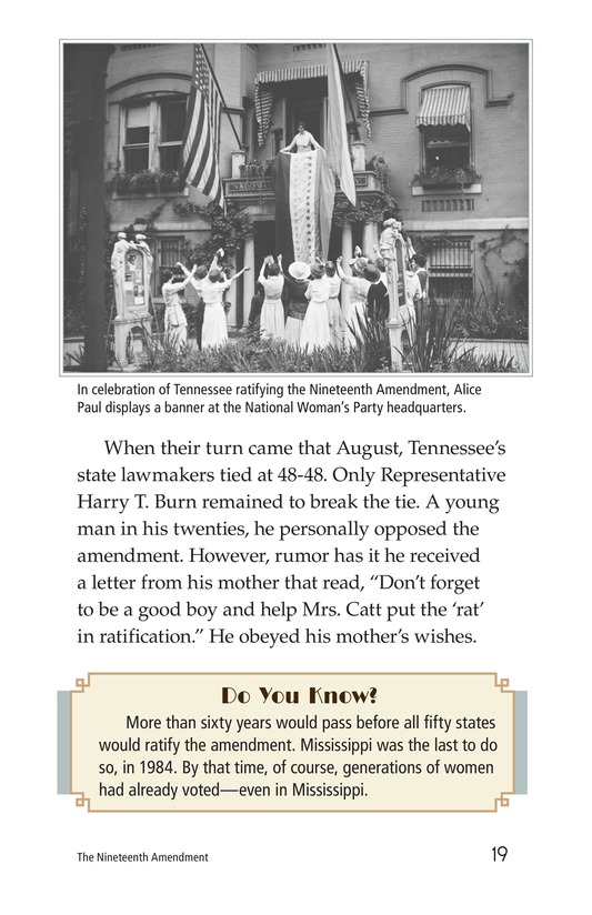 Book Preview For The Nineteenth Amendment Page 19
