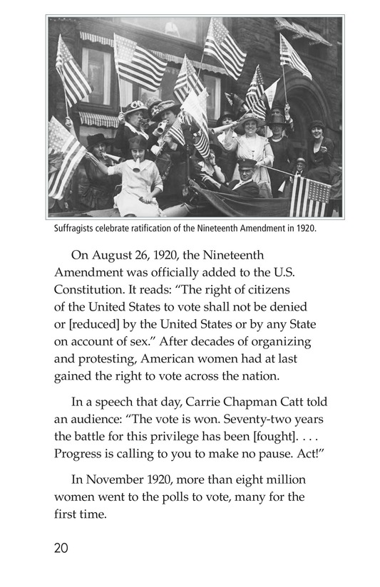 Book Preview For The Nineteenth Amendment Page 20